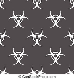 seamless pattern with Bio hazard