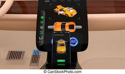 Vehicle automatic parking system - 3D animation showing...