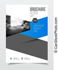 Catalog cover design Annual report vector illustration...