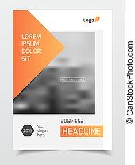 Catalog cover design. Annual report vector illustration...