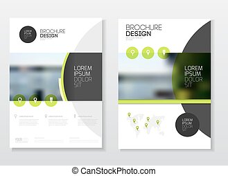 Catalog cover design. Annual report vector illustration...