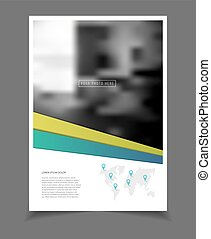 Annual report Leaflet Brochure Flyer template A4 size...