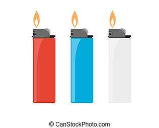 Cigarette lighter vector illustration - igarette lighter...