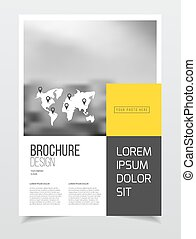 Abstract business Brochure design vector template in A4...