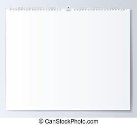 Blank template wall calendar