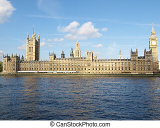 Houses of Parliament, Westminster Palace, London gothic...