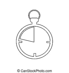 Chronometer icon Illustration design