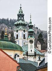 Old castle in Banska Stiavnica, Slovakia, cultural heritage...