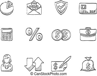 Sketch Icons - More Finance - Finance icon series in sketch.