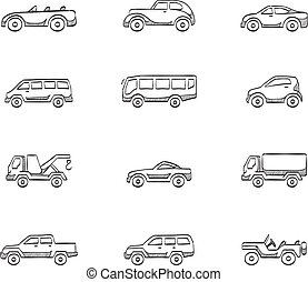 Sketch Icons - Cars