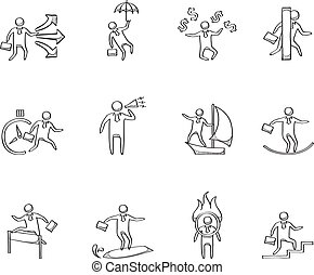 Sketch Icons - Businessman - Businessman icon in various...