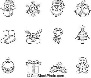 Sketch Icons - Christmas