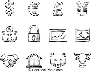 Sketch Icons - Finance - Finance icon series in sketch.