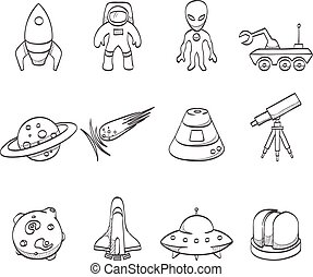 Sketch Icons - Space