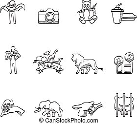 Sketch Icons - Zoo