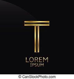Golden T Letter