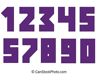 Violent bold numbers Creative numbers, Vector illustration