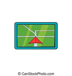 Navigator icon in cartoon style on a white background
