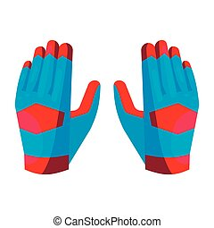 Gloves of the goalkeeper icon, cartoon style - Gloves of the...