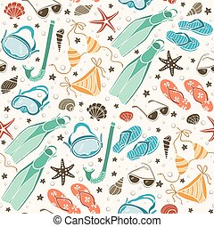 beach accessories  pattern