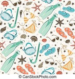 beach accessories  pattern