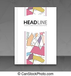 Cover report colorful triangle geometric lines prospectus...