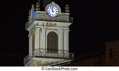 Church clock tower timelapse - Terra Santa High School in...