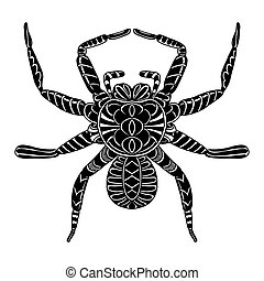 Vector of Abstract Spider Line art Black and white Hand...
