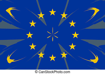 European original flag colors abstract design form