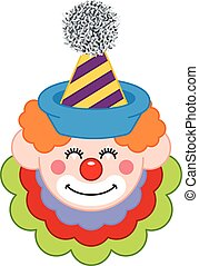 Happy Clown Face - Scalable vectorial image representing a...