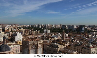 Valencia Spain city view from tower - DSLR Full HD...