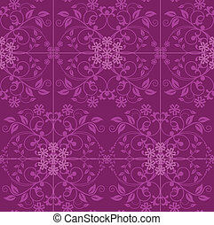 Fuchsia and pink floral wallpaper vector illustration