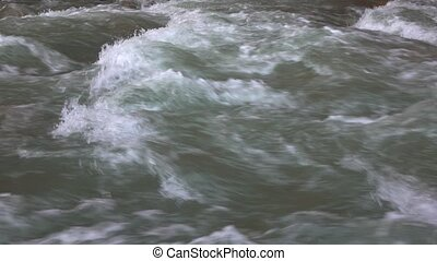 Mountain river rapids 4K close up video - Mountain river...