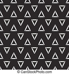 Geometric line monochrome abstract hipster seamless pattern...