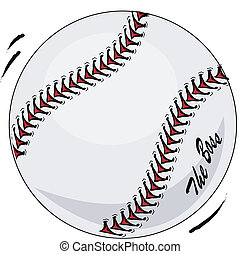 Brand new baseball in motion The Boss vector illustration...
