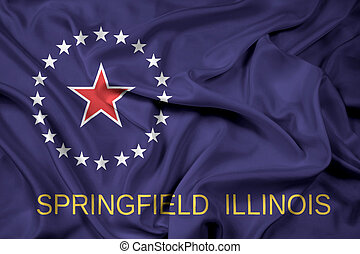 Waving Flag of Springfield, Illinois