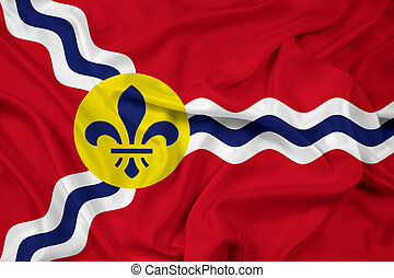 Waving Flag of St Louis, Missouri