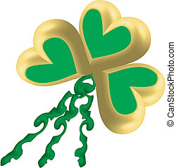 Three leaf clover heart balloons - Three leaf clover in...