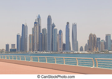 cityscape of Dubai from Palm Jumeirah