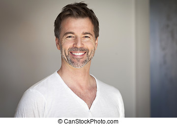 Portrait of a mature man smiling - Men, Smiling, Mature Men,...