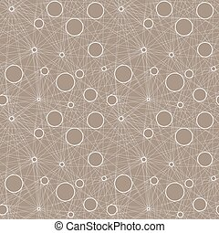 Seamless vector pattern of linear mesh on light beige...