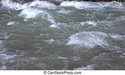 Mountain river rapids super slow motion video - Mountain...
