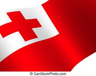 Tonga - National Flag. Tonga