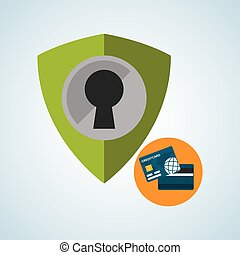 Security System design Protection icon Isolated...