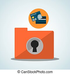 Security System design. Protection icon. Isolated...