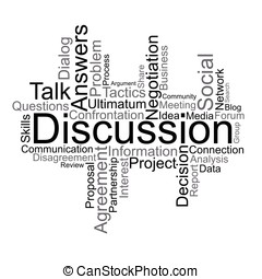 Discussion tag cloud