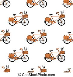 Illustration of Bicycle, Riding on the bicycle, vector illustrat