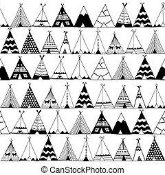 Teepee native american summer tent illustration. - Teepee...