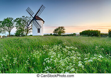 Sunrise at Ashton Windmill - Beautiful Ashton Windmill at...