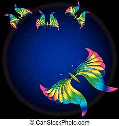 luminous butterfly - Illustration of luminous butterfly on...